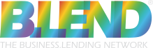 Blend's logo, the business lending network in UK
